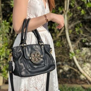 Tory Burch Navy Leather Bag
